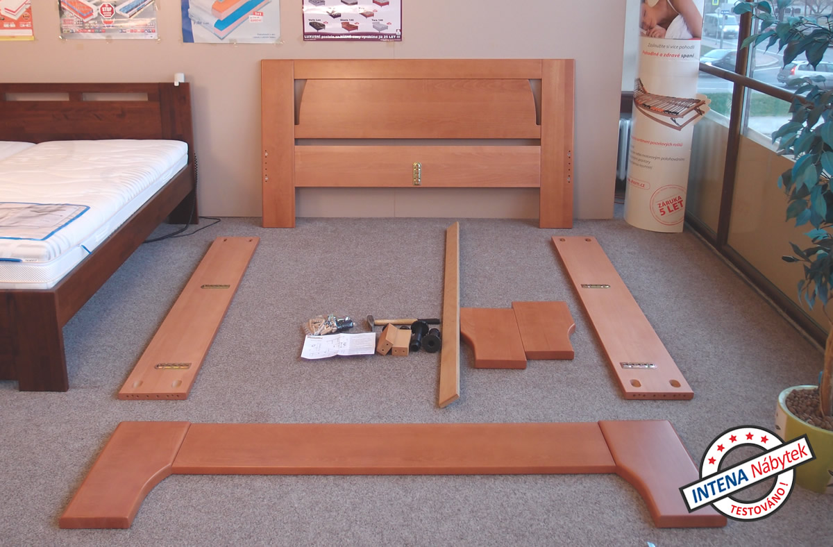 Jednotlivé díly postele OLYMPIA 1
