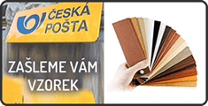 Zaslání vzorníku poštou