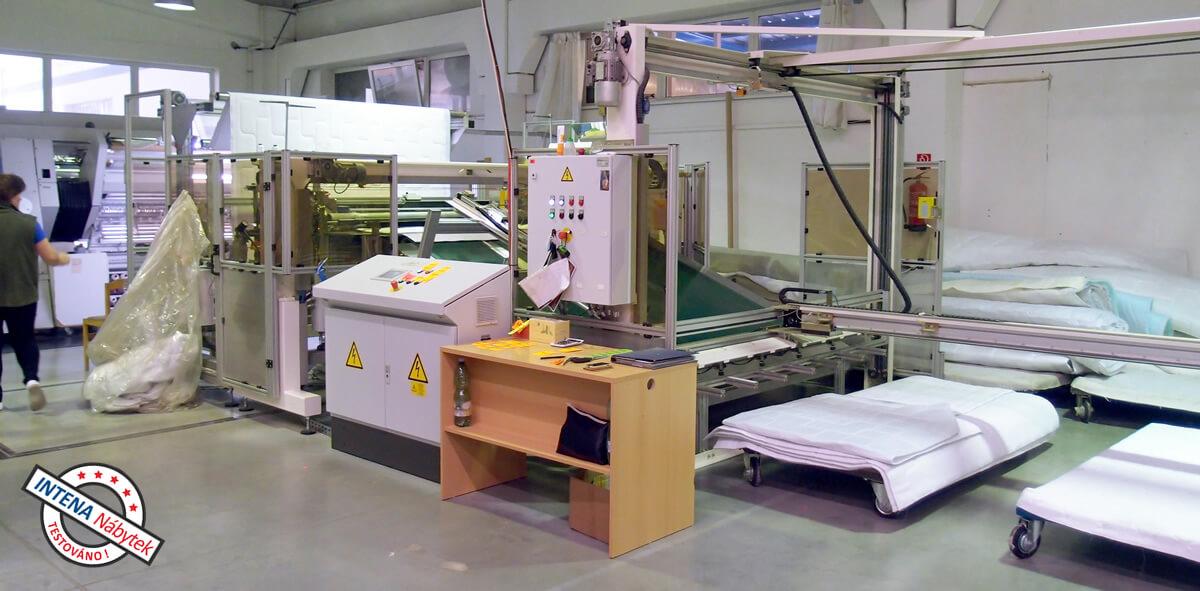 Výroba potahu pro matrace