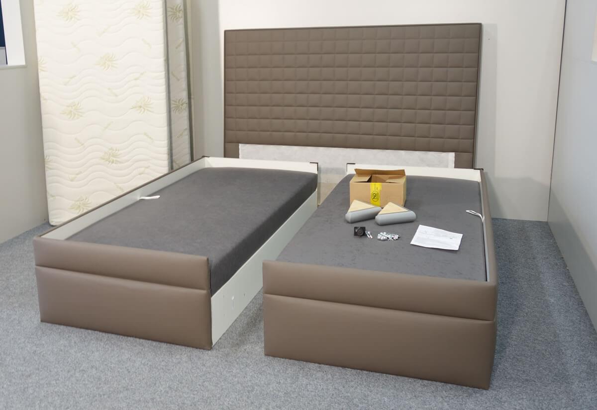 Díly pro sestavení americké postele Rialto